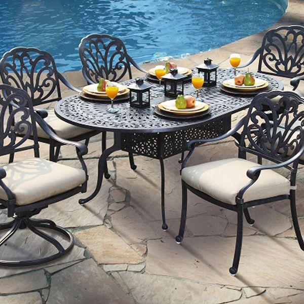 San Marino Dining Set 7 Piece By Veranda Classics 1799 Outdoor