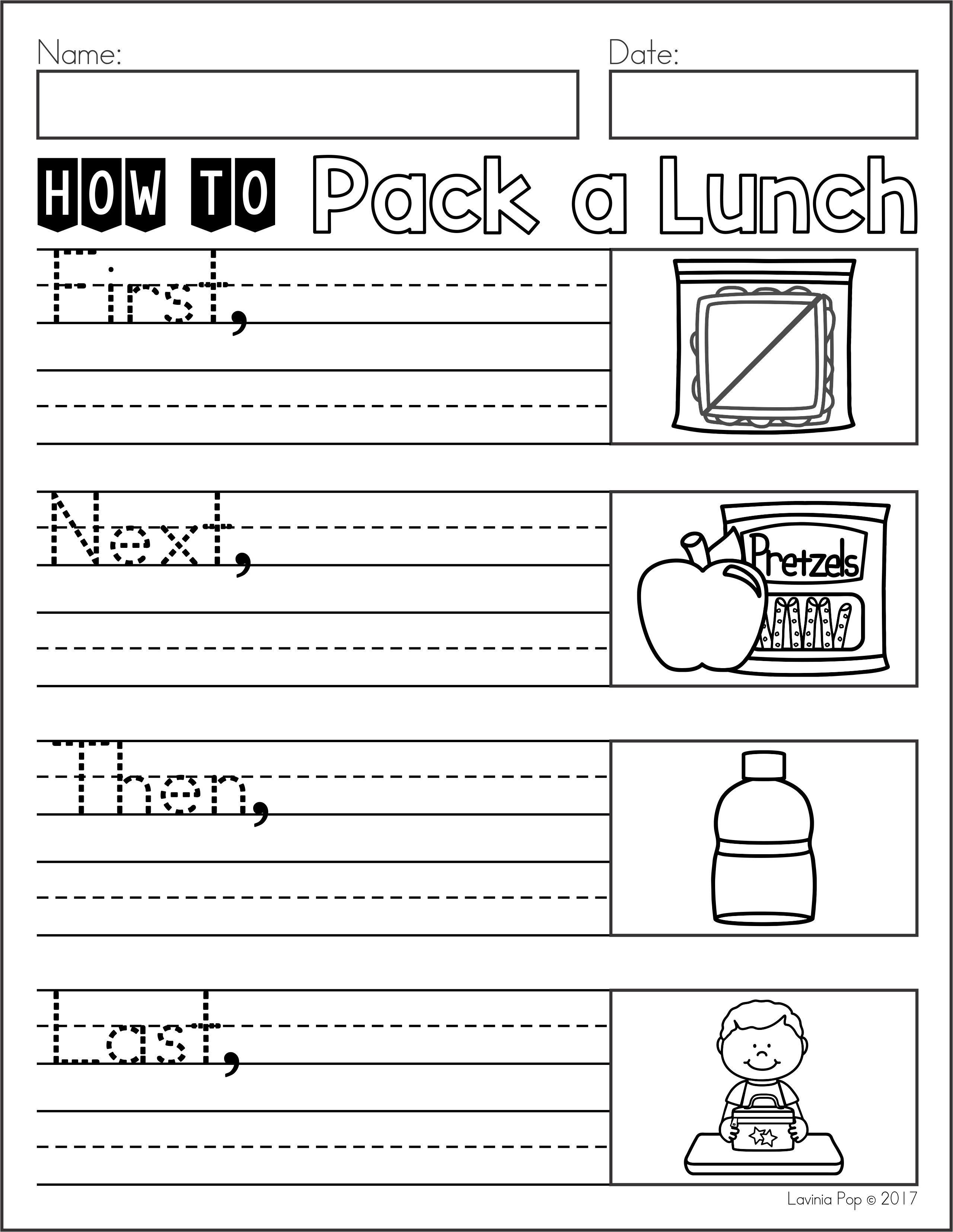 Writing Journal Prompts Bundle Sampler Kindergarten Writing Procedural Writing First Grade Writing [ 3310 x 2560 Pixel ]