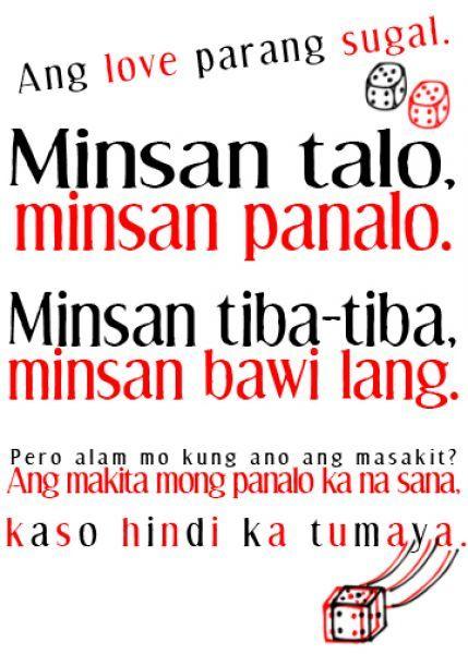 Tagalog Translations: Filipino Love Quotes with English