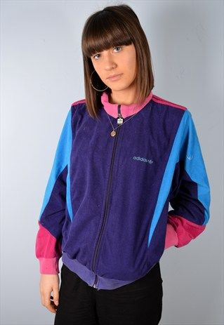 vintage top womens 90's 12 size Adidas Outfit jacket tracksuit 5qBdnHt