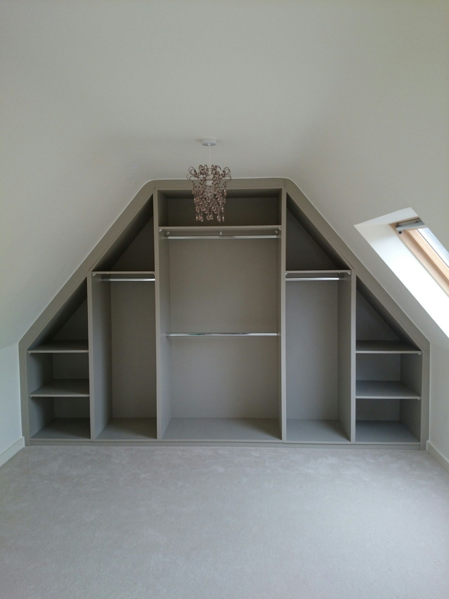 Loft bedroom storage ideas  Sloping Ceiling Wardrobe Angled Made to Measure Rigid Carcasses