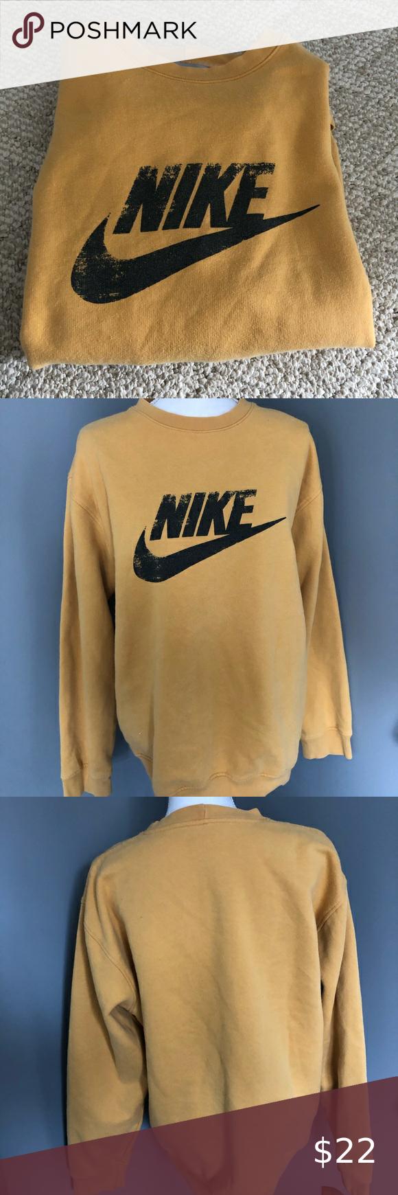 Yellow Nike Sweatshirt Sweatshirts Yellow Nikes Nike Sweatshirts [ 1740 x 580 Pixel ]
