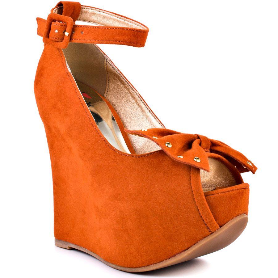 Orange Wedge Heels