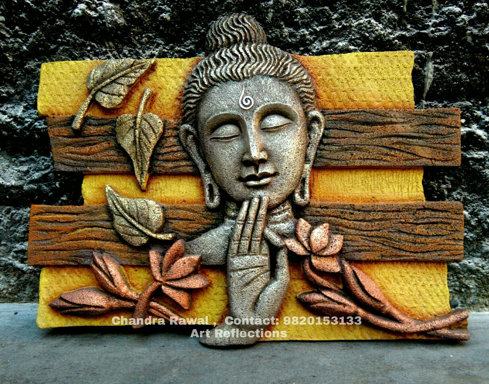Pin by chandra rawal on siporex 3d murals pinterest for Buddha mural art