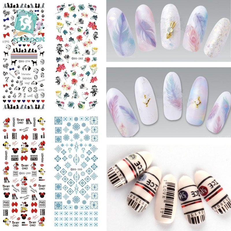 3bf08c1771a7f Rocooart DS271-300 Water Transfer Stickers Beauty Harajuku Blue Totem  Decoration Nail Wraps Sticker Fingernails