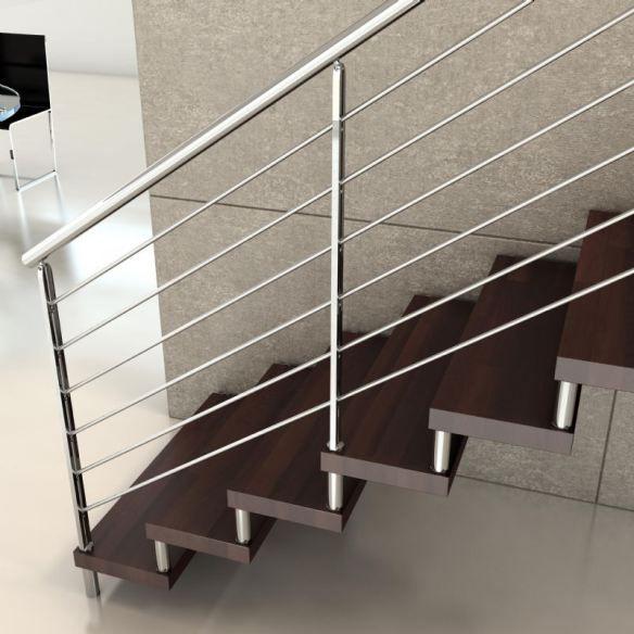Pasamanos de acero inoxidable escaleras acero y hierro for Pasamanos de escaleras interiores