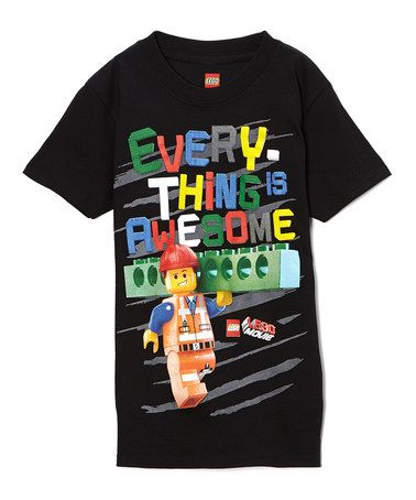 Loving this Black 'Every-Thing is Awesome' Lego Movie Tee - Boys on #zulily! #zulilyfinds