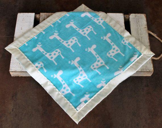 New Baby Blanket Minky and Satin Blanket ~ I/'m New Here Minky ~ Teal ~ Satin Blanket Minky Blanket Silky Blanket