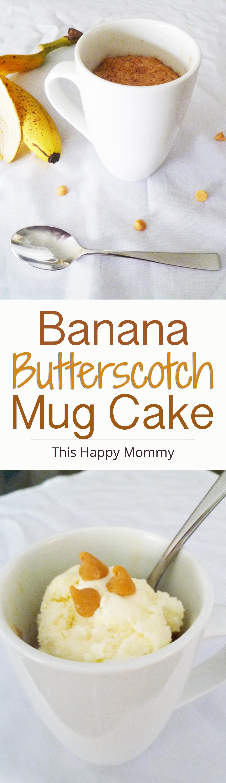 Banana Butterscotch Mug Cake | Recipe | Vegetarian recipes ...