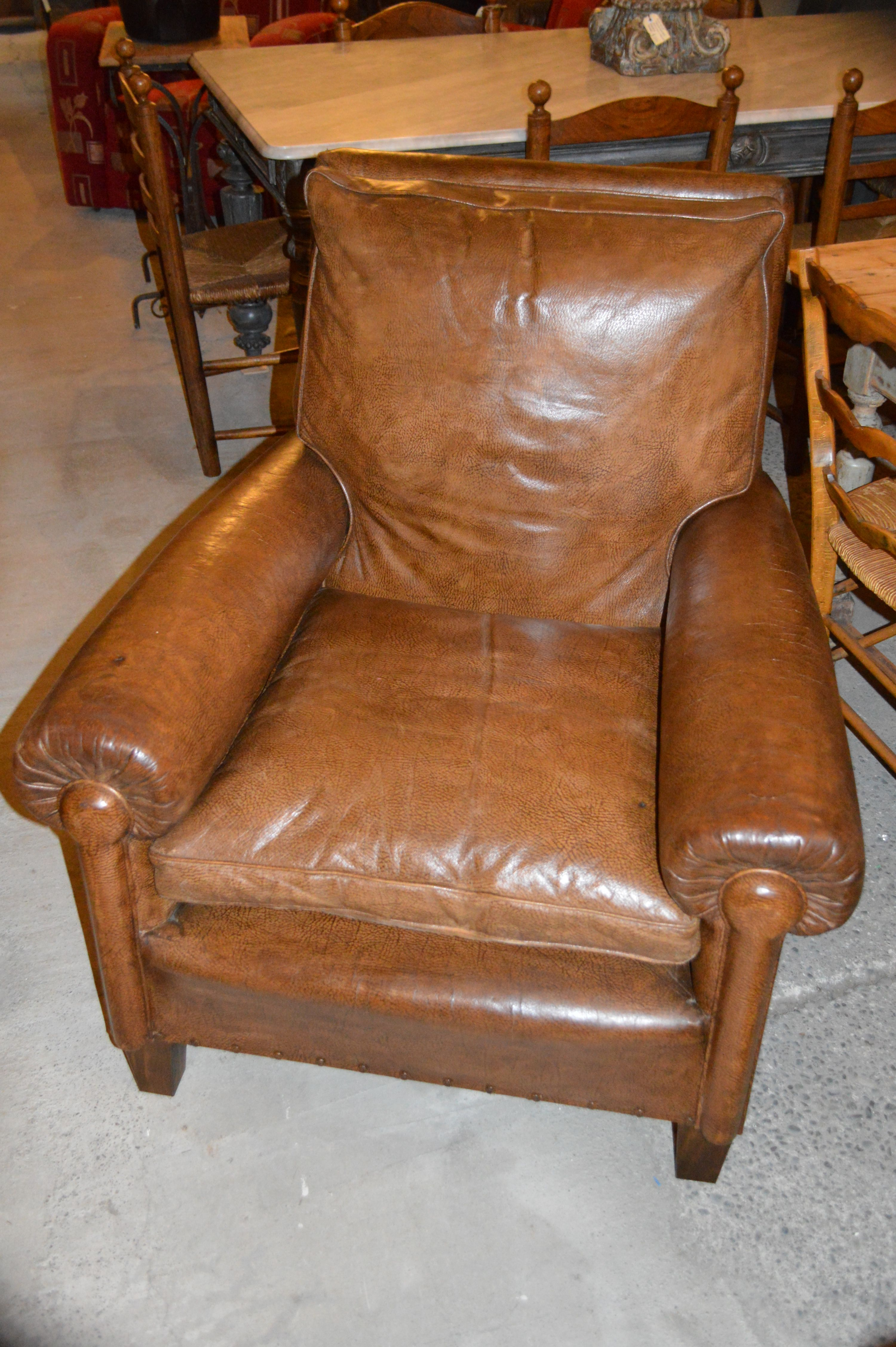 Charmant Great Old French Leather Chair From Country Trader New Zealand.