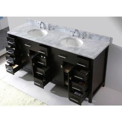 virtu usa caroline parkway 72 in w bath vanity cabinet only in rh pinterest com
