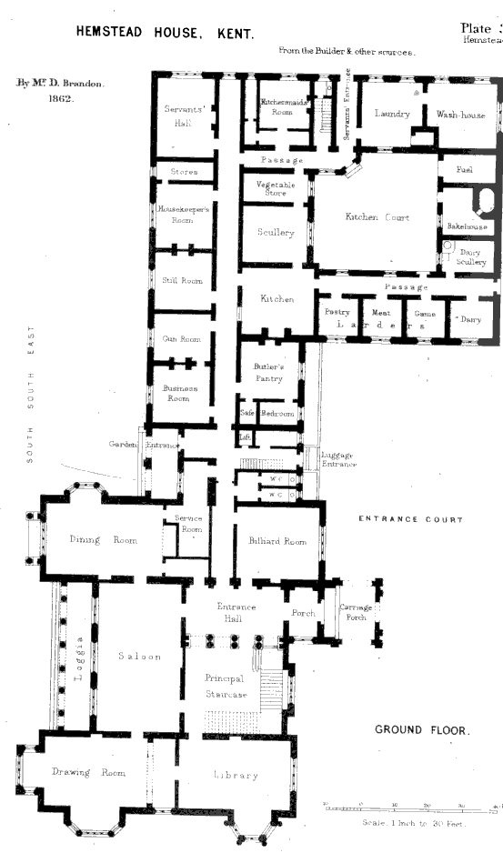 English Kitchens Sculleries Larders And Pastry Rooms Circa 1865 Susanna Ives English Country House Plans Mansion Floor Plan Vintage House Plans