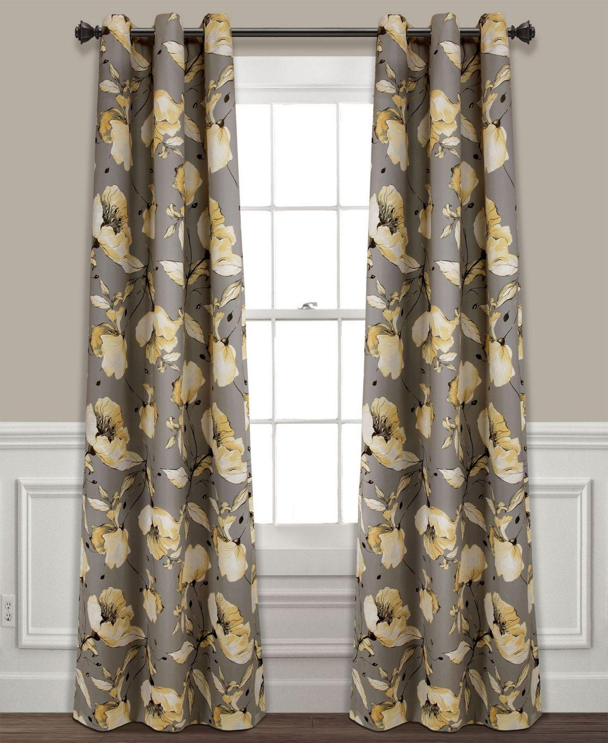 Zebra 84 Window Curtain Panel In Chocolate Ivory Panel Curtains