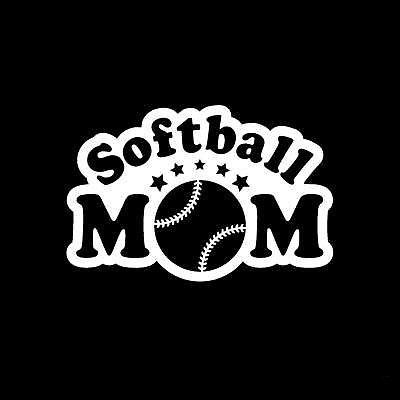 "SOFTBALL Mom (Style#1) 6.5""- Perfect for Windows, cars, truck, motorcycles, notebook, laptop, wall, etc. by KWSupply on Etsy https://www.etsy.com/listing/216120034/softball-mom-style1-65-perfect-for"
