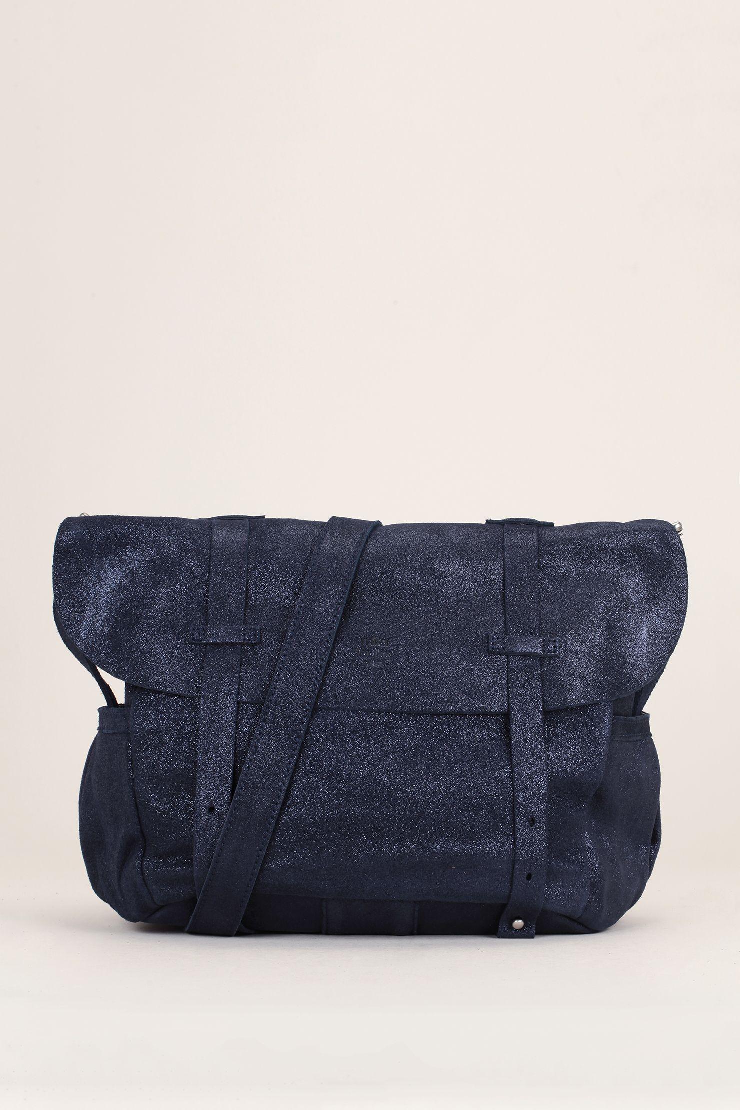 edc80b1cb7 Besace cuir bleu irisé Bernie - Mila Louise | Sacs à main | Bags ...