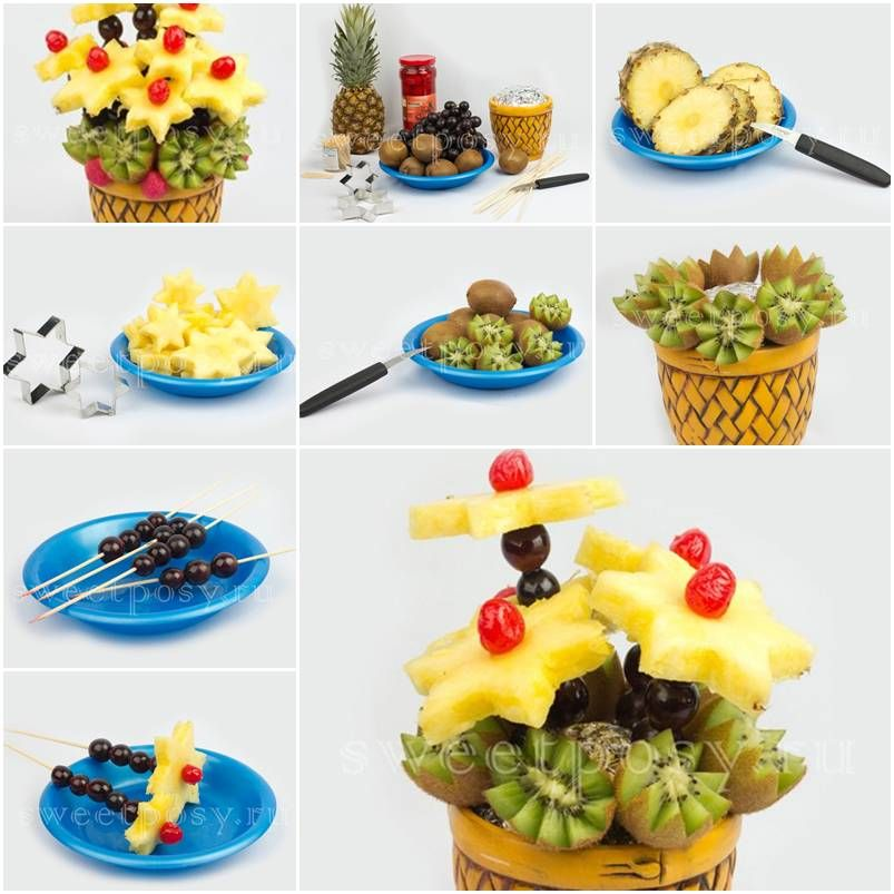 How to make pretty fruit basket step by step DIY tutorial instructions thumb