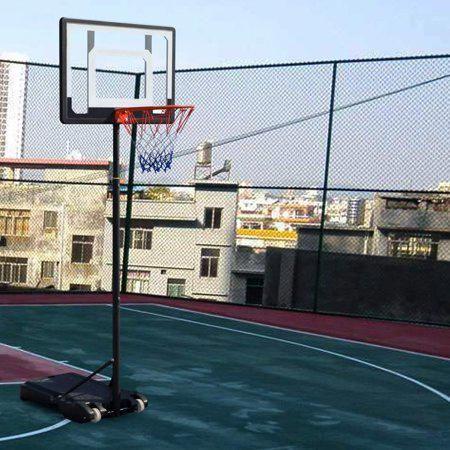 Full Court In Ground Adjustable Basketball Goal Hoop Backboard