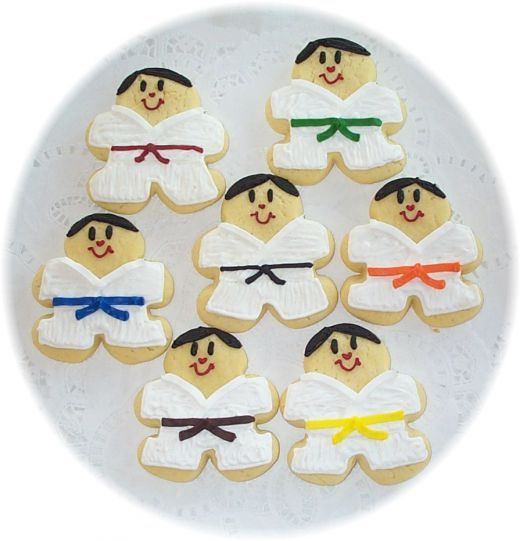 Karate Birthday Cakes and Cupcake Ideas Cookie cutters