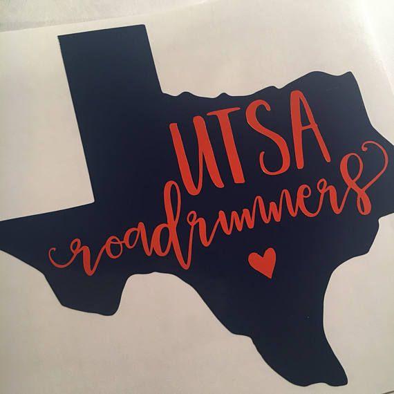 UTSA Roadrunners sticker vinyl decal San Antonio University - resume yeti