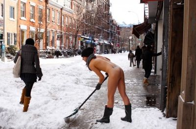 Girl in naked funny snow are absolutely