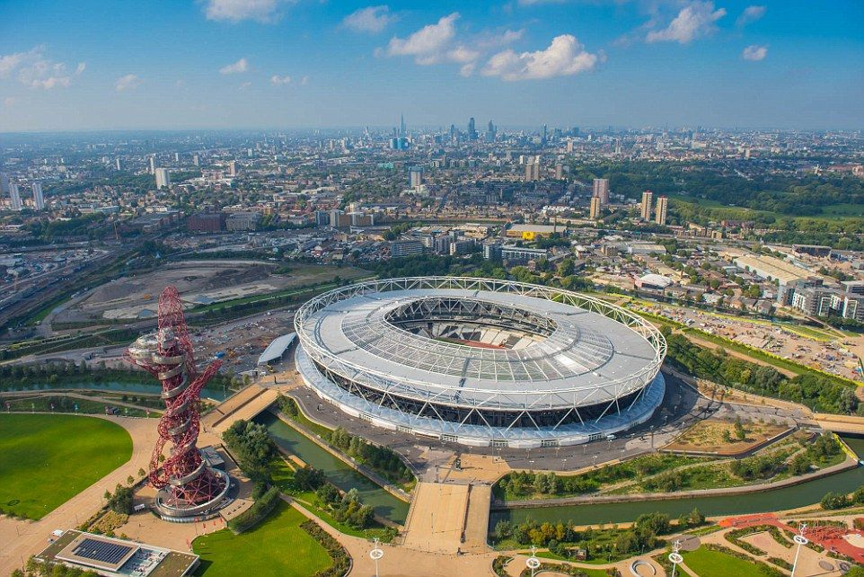 London football grounds from above: Vista shots of capital's ...