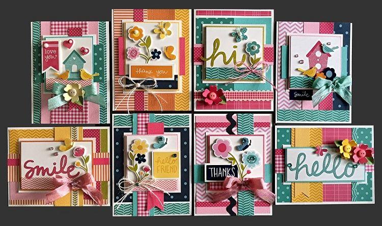 Hello Friend Card Kit Kim S Card Kits Handmade Card Making Kit