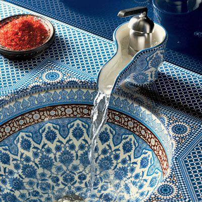 Orientalischen stil waschbecken mit mosaik wastafel wasbak badkamer bathroom - Badezimmer marokkanisch ...