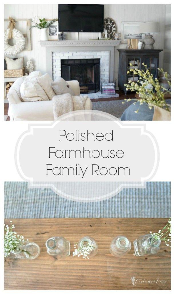 Photo of Neutral Farmhouse Family Room Reveal – Seeking Lavendar Lane
