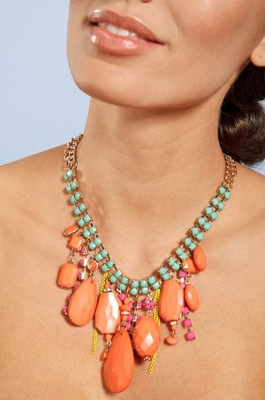 Colorful stone necklace #bostonproper
