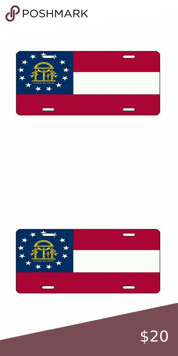 Georgia License Plate Tag State Flag 6 X12 Alumin State Flags License Plate Flag