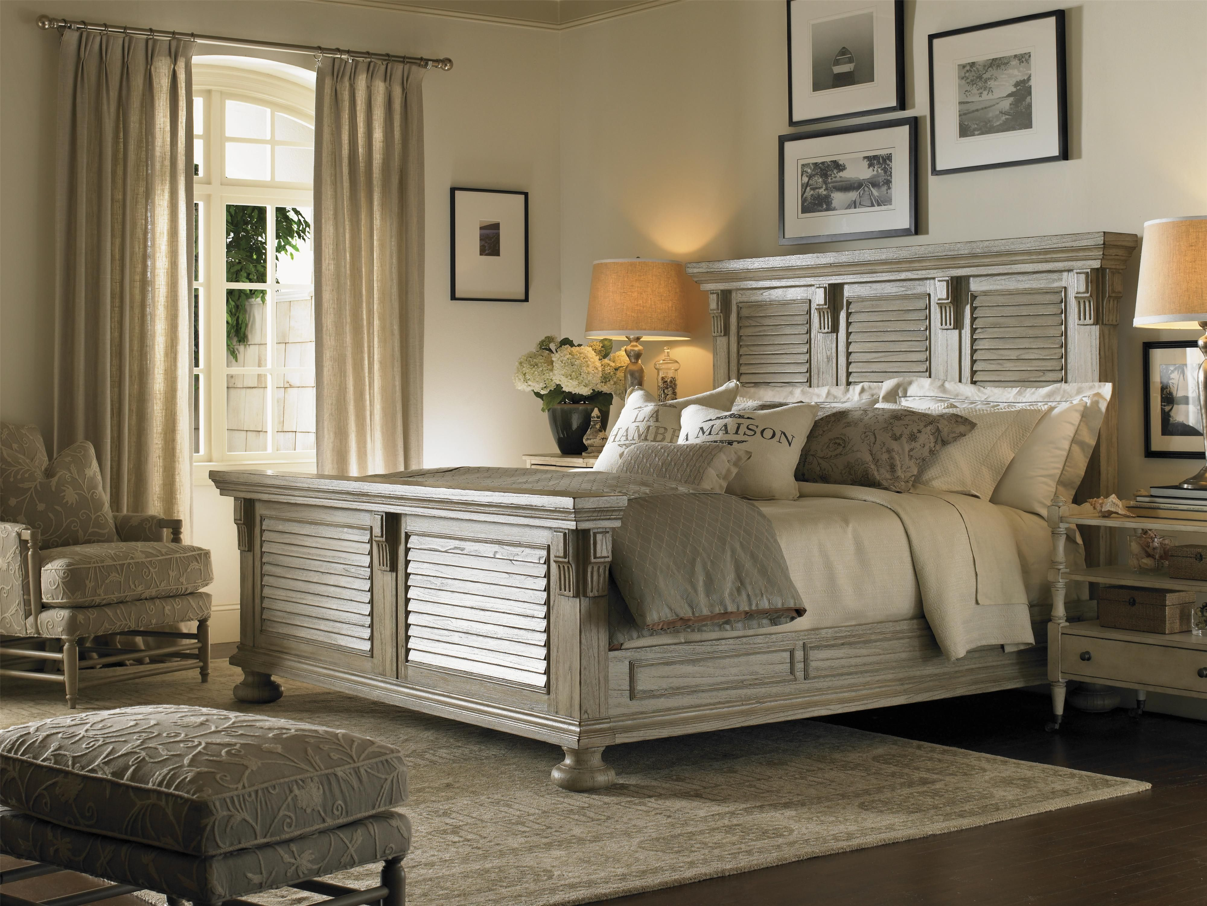 Furniture stores in chapel hill nc -  Point Headboard Footboard Bed With Louvered Panels Distressed Finish Riverview Galleries Headboard Footboard Durham Chapel Hill Raleigh