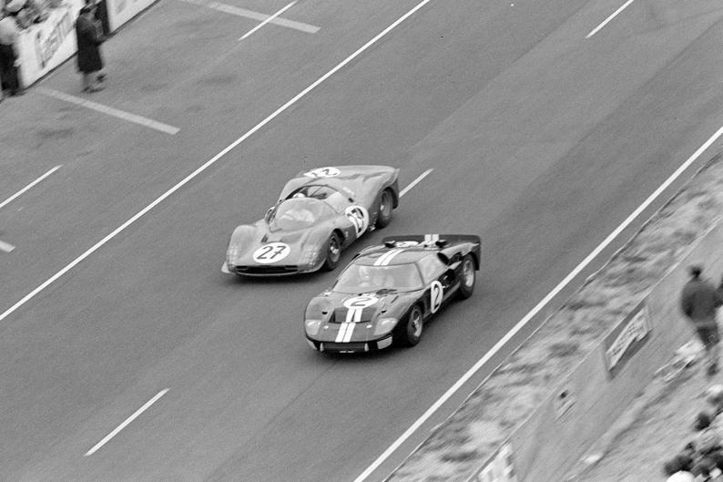 Affiche 24h Du Mans 1966 Ford Vs Ferrari Le Mans Ferrari 24h Du Mans