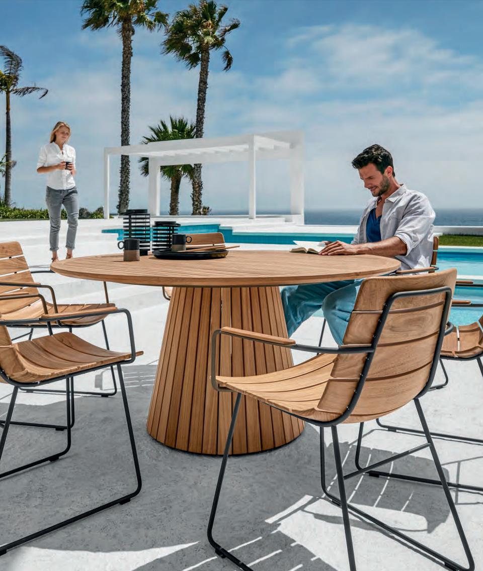 Astonishing Whirl Teak Round Table William Dining Chair Gloster Inzonedesignstudio Interior Chair Design Inzonedesignstudiocom