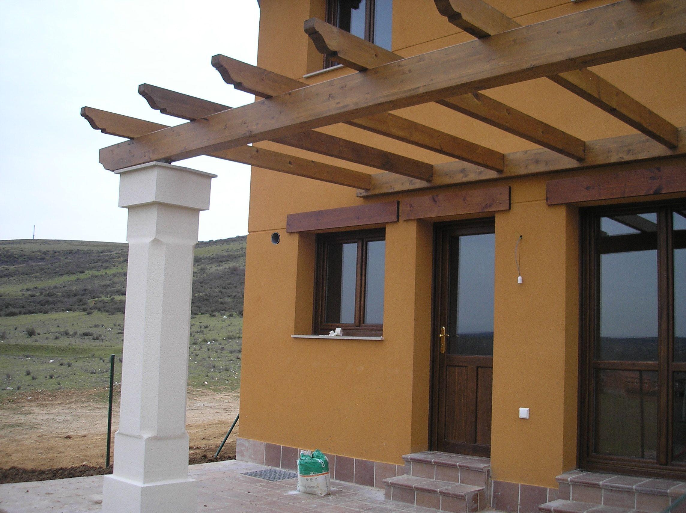 proyecto de prgola para la urbanizacin la peralina en len prgola en madera sobre columnas