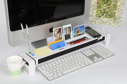 Amazon.com : Cyanics iStick Multifunction Desk Organizer with 3 Hub USB Port, Cup Holder, Card Reader, Letter Opener, Paper Holder and more (Color: White) : Office Workstations : Electronics