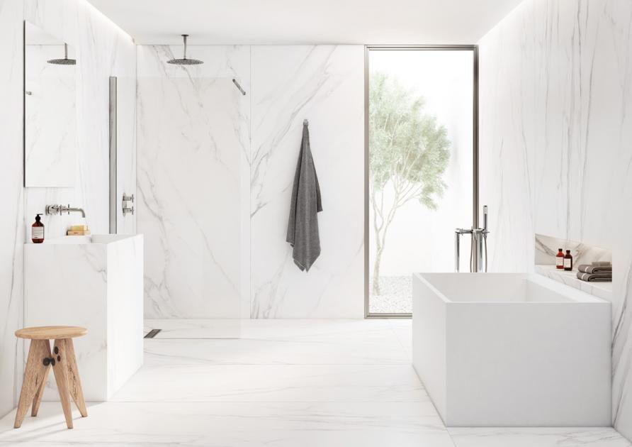 Gross Denken Xxl Fliesen In Marmoroptik Bild 4 Badezimmer