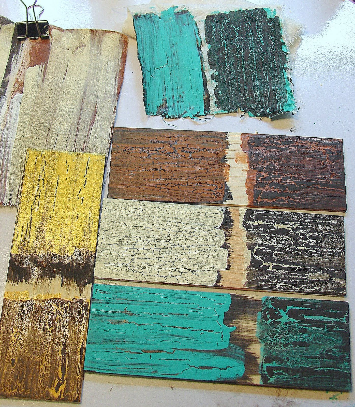 Rustic painted furniture - Crackle Painting