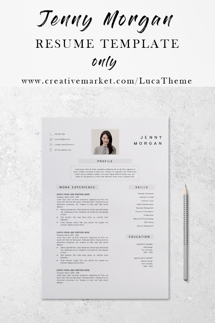 resume cv template resume template instant download