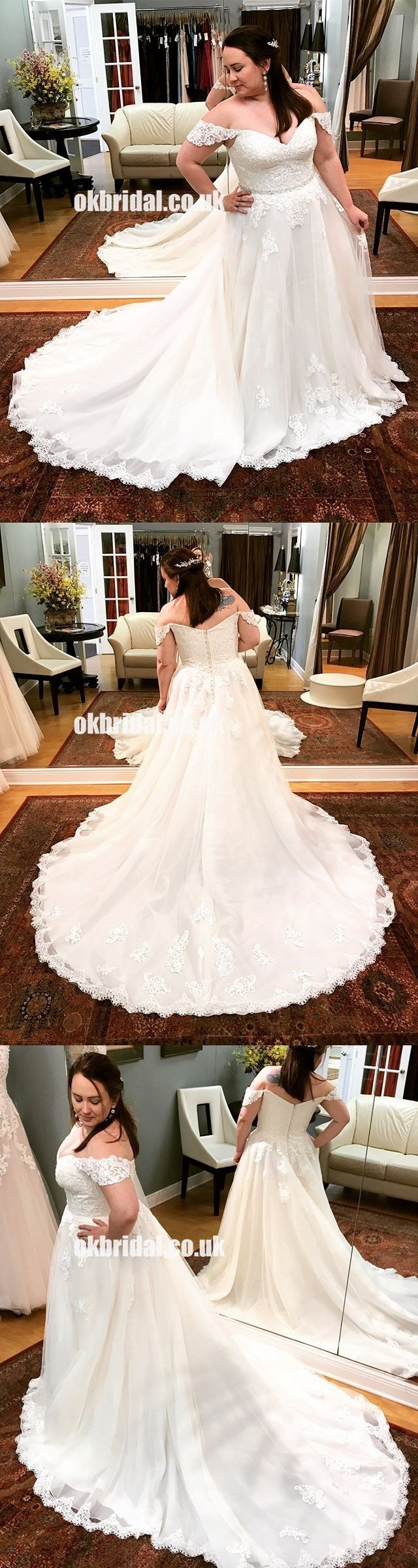White off the shoulder wedding dress  Charming White Lace Off Shoulder Wedding Dress ALine Tulle