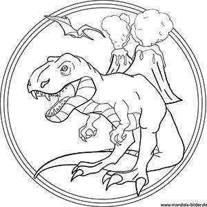 t-rex mandala malvorlage | patrones de bordado, manualidades, dinosaurios