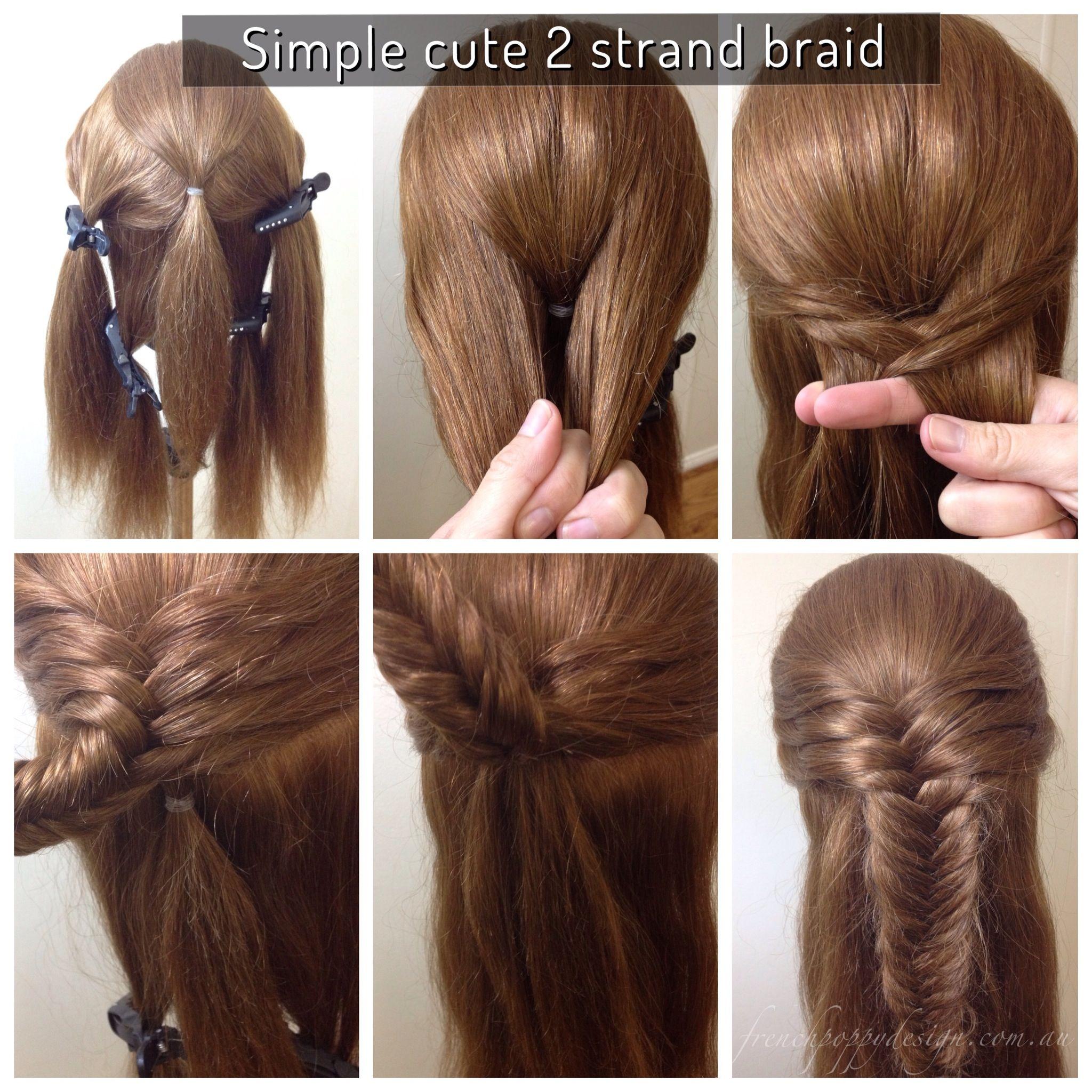 cute and easy hair design created
