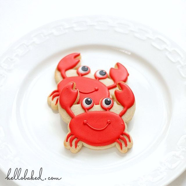 Crab Cookie // Hellobaked
