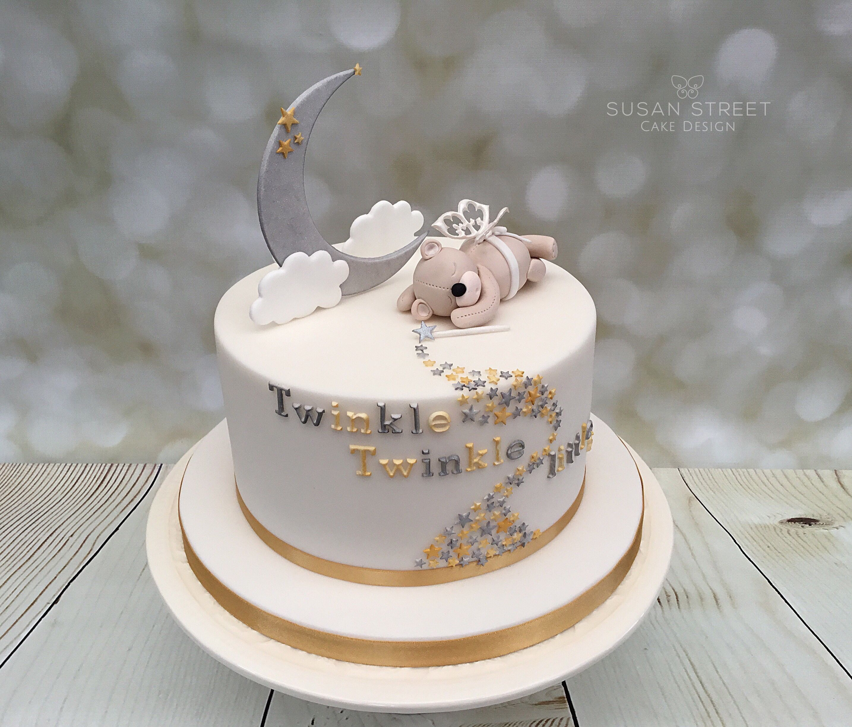 Twinkle Twinkle Little Star Baby Shower Cake With