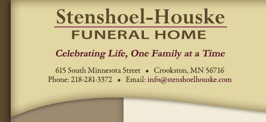 Stenshoel Houske Funeral Home Lehrkamp Family History Funeral