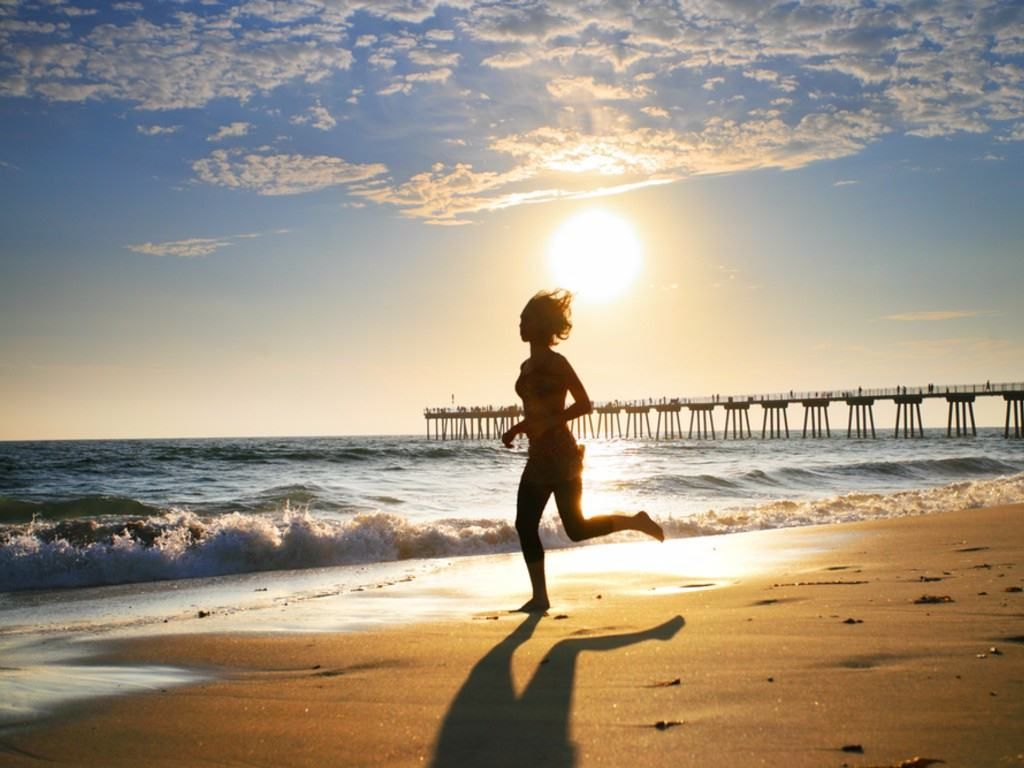 No Games Just Sports Running Beach And Motivation