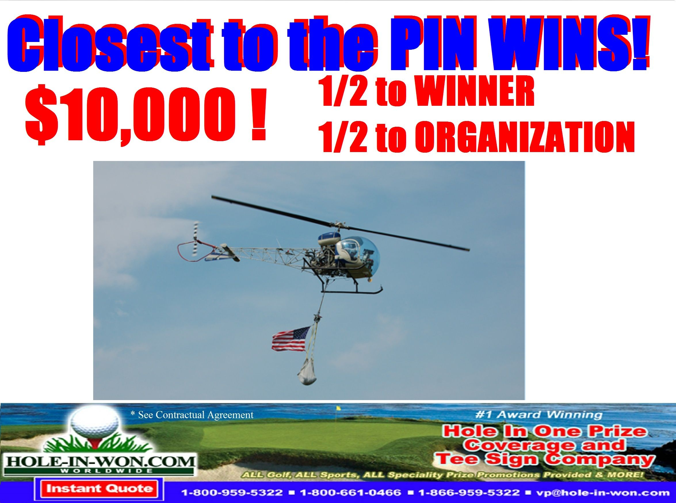 Pin By Hole In Won Com Golf Hole In One Insurance All Contest
