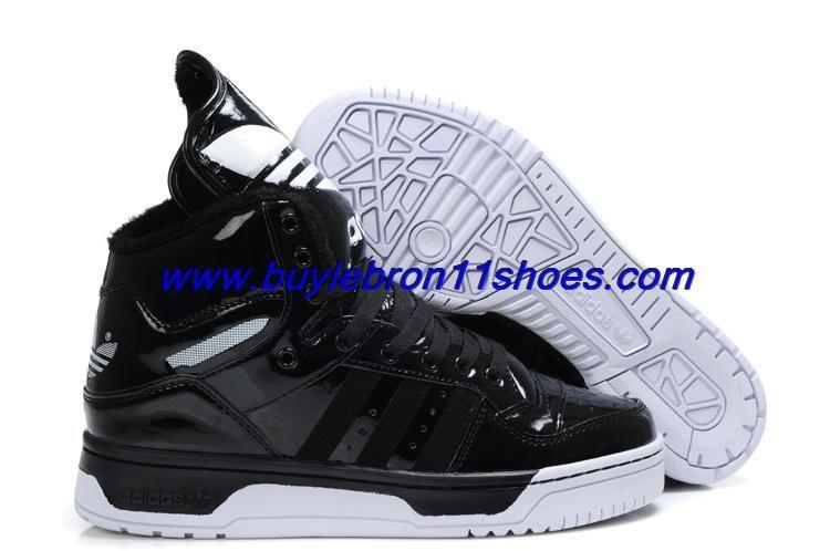 3ca3a6f3b806 Cheap Adidas Original X Jeremy Scott Big Tongue Velvet Shoes Black For Sale