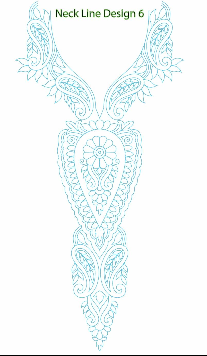 Neck Line Embroidery Design | Embroidery Heaven | Pinterest ...