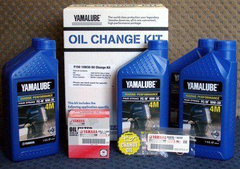 OEM Yamaha Outboard F150 10W30 Oil Change KIT LUB-MRNMR-KT-10