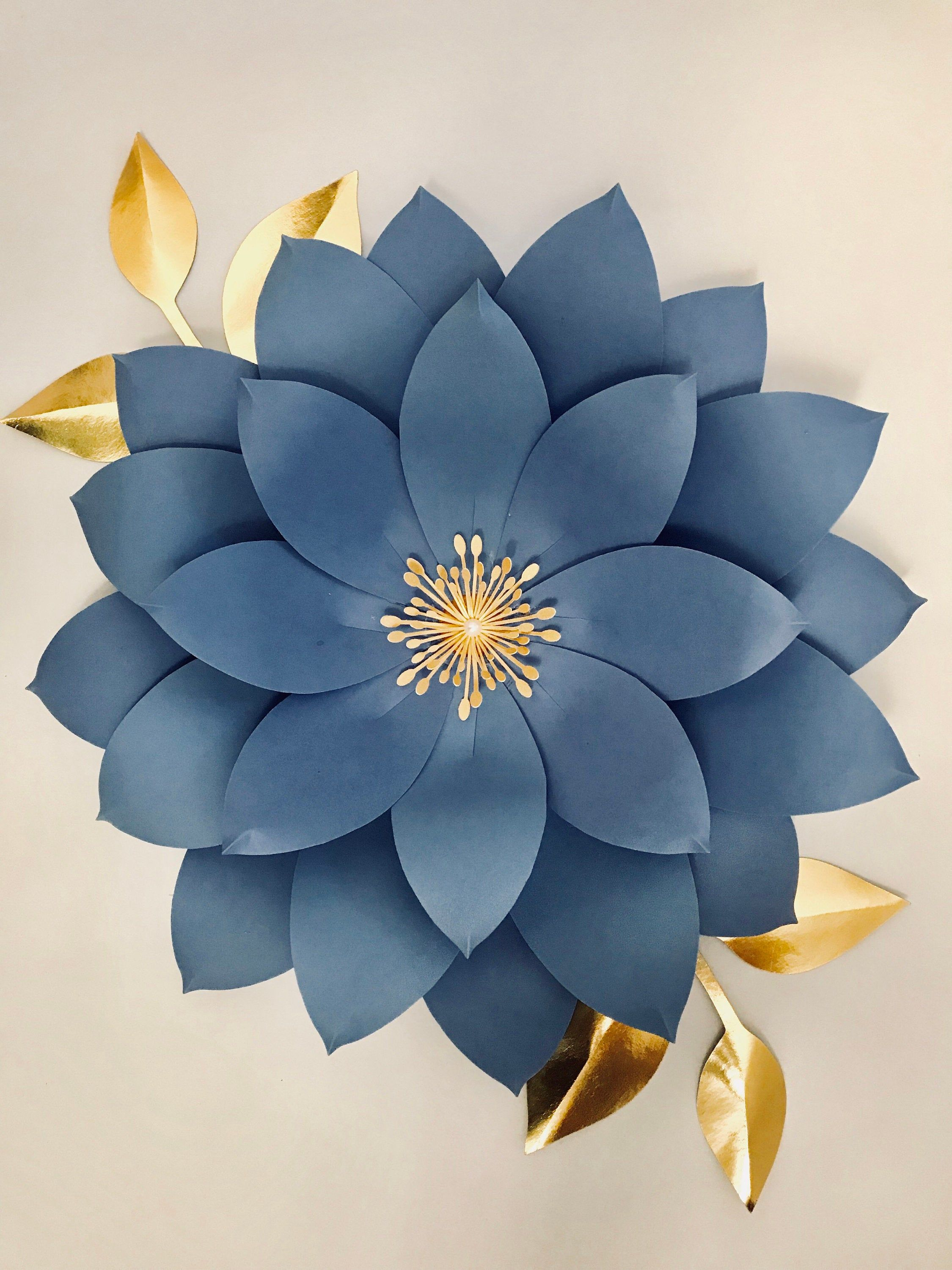 Giant Paper Flowers Template Svg Pdf For 3d Paper Flowers Flower